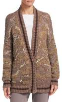 Brunello Cucinelli Mixed-Knit Cardigan