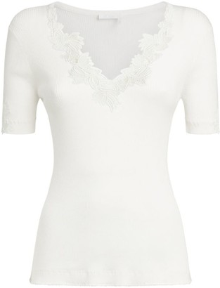 Chloé Lace-Trim Knitted Top