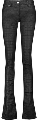 Roberto Cavalli Mid-Rise Coated Flared Jeans
