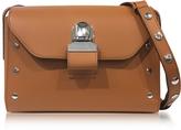 MM6 Maison Martin Margiela Brown Leather Shoulder Bag