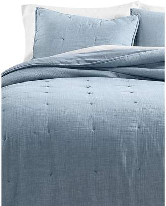 Martha Stewart Tufted Chambray Quilt