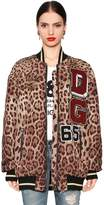 Dolce & Gabbana Patches Leopard Quilted Nylon Bomber