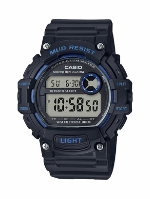 Casio Men's Mud Resistant Stainless Steel Quartz Watch with Resin Strap
