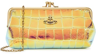 Vivienne Westwood Archive Orb Iridescent Leather Clutch