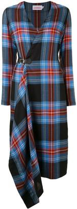 Charles Jeffrey Loverboy Long Sleeved Tartan Kilt Dress