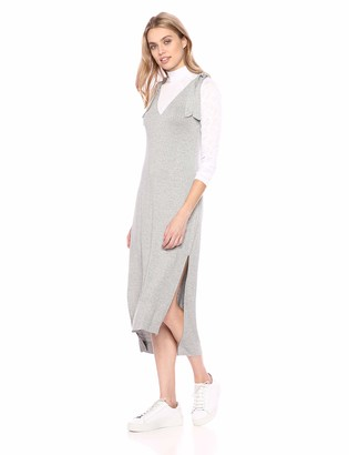 BCBGeneration Women's Two-FER Dress Heather Grey XXS