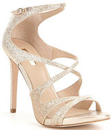 GUESS Ablane Glitter Ankle Buckle Open Toe Dress Sandals