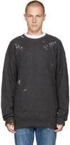 Diesel Grey Distressed K-LOL Sweater