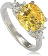 Suzy Levian Jewelry Sterling Silver Yellow CZ Bridal Ring
