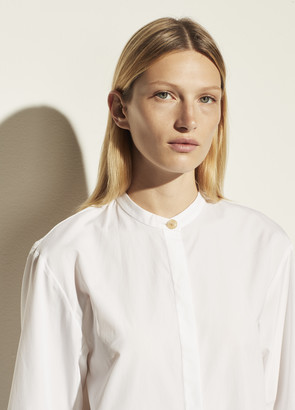 Vince Poplin Sculptural Sleeve Shirt