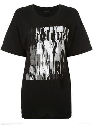 Ann Demeulemeester Fine abstract-print T-shirt