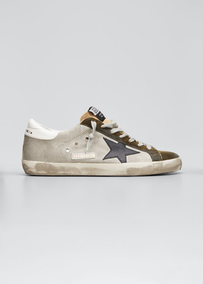 Golden Goose Men's Superstar Suede & Canvas Sneakers