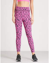 Fendi Fun Fair logo-print stretch-jersey leggings