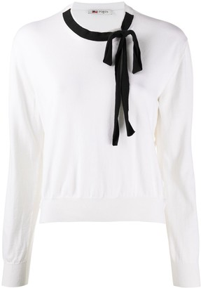 Ports 1961 Neck-Tie Long Sleeved Jumper