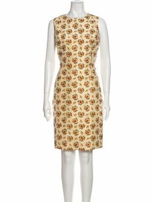 Oscar de la Renta Silk Knee-Length Dress