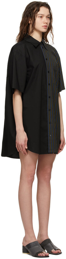Thumbnail for your product : MM6 MAISON MARGIELA Black Combo Stripe Dress