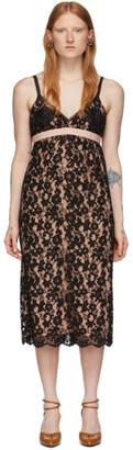 Gucci Black Flower Lace Shell Dress