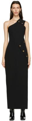 Versace Black One Shoulder Slit Dress