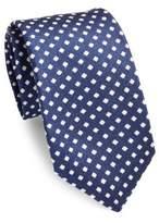 Isaia Geometric Silk Tie