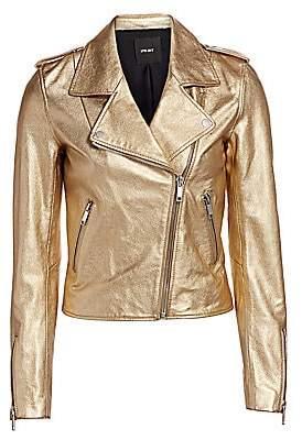 LTH JKT Women's Kas Metallic Leather Moto Jacket