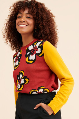 Glamorous Daisy Color Block Pullover