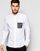 HUGO BOSS Hugo By Smart Shirt With Mesh Pocket Slim Fit