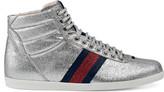 Gucci Glitter Web high-top sneaker