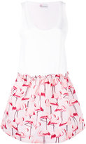 RED Valentino flamingo print dress - women - Cotton/Polyester - M