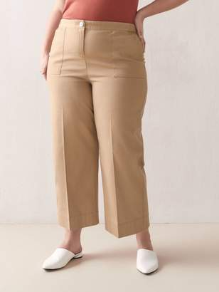 Addition Elle Cropped High-Waist Pant
