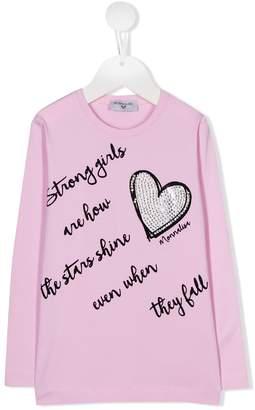 MonnaLisa Strong Girls print top