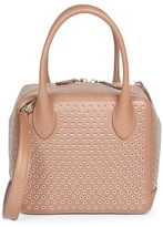 Alaia Small Elba Grommet Leather Box Bag