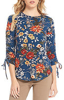 Westbound Rouched Tie Sleeve Top