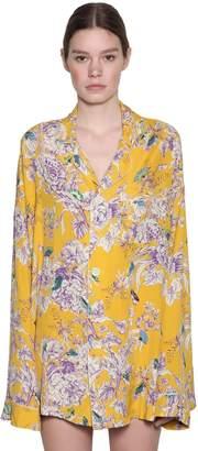 R 13 Printed Satin Pijama Shirt