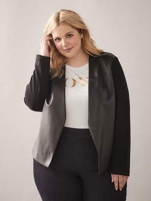 Black Mix-Media Jacket - Addition Elle