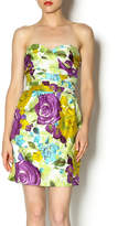 Andree Floral Strapless Dress