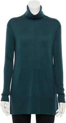 Apt. 9 Women's Ribbed Side Panel Turtleneck Sweater