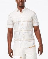 Sean John Men's Space Dyed Melange Plaid Shirt