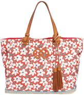 DSQUARED2 Floral Printed Cotton Canvas Tote