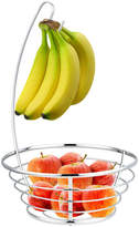 Pier 1 Imports Chrome Plated Fruit Basket with Banana Tree