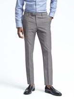 Banana Republic Slim Gray Houndstooth Wool Suit Trouser