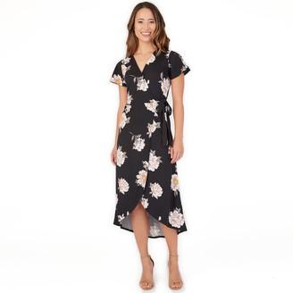 Apt. 9 Women's Flutter Sleeve Faux Wrap Dress