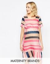 Mama Licious Mama.licious Mamalicious Striped Woven Shift Dress