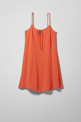 Weekday Melina Dress - Orange