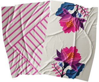 Ambrosia Aster Cotton 2 Piece Tea Towel Set 67.5 x 47.5cm Flower Stem