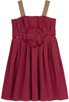 Lanvin EMBELLISHED SATEEN DRESS-PINK SIZE 6