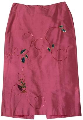 Patrizia Pepe Pink Silk Skirt for Women
