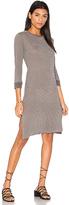 Stateside Heather Stripe Midi Dress in Gray. - size S (also in XS)