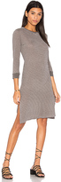 Stateside Heather Stripe Midi Dress in Gray. - size XS (also in )