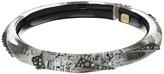 Alexis Bittar Crystal Encrusted Origami Inlay Hinge Bracelet Bracelet