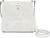 Karen Millen Oval Perforated Cross Body Bag - White
